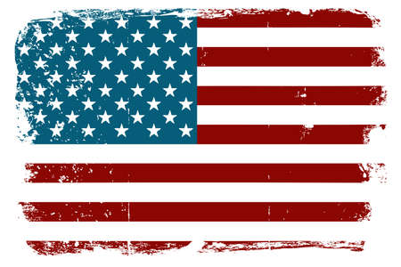 distressed texture: Vintage American flag