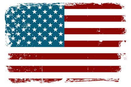 american poster: Vintage bandera de Estados Unidos Vectores