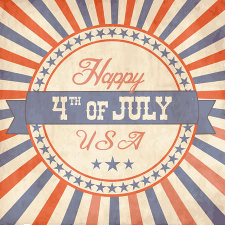 Independence Day greeting card in vintage style Vector