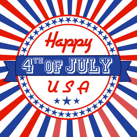 Independence Day greeting card Vector