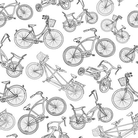 Seamless bicycle pbackground Vector