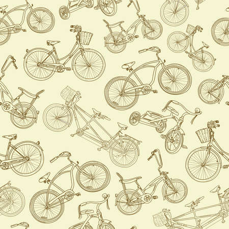 Seamless bicycle background Stock Vector - 15158888
