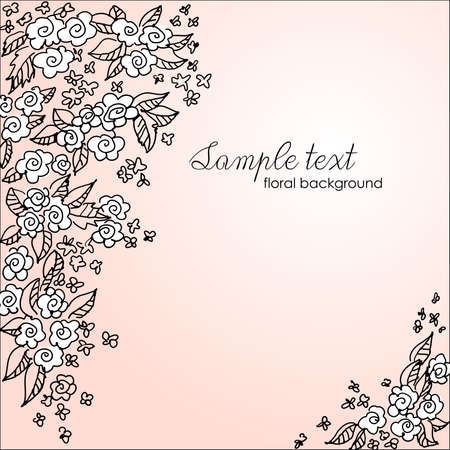 photo album cover: Beautiful floral background  Illustration
