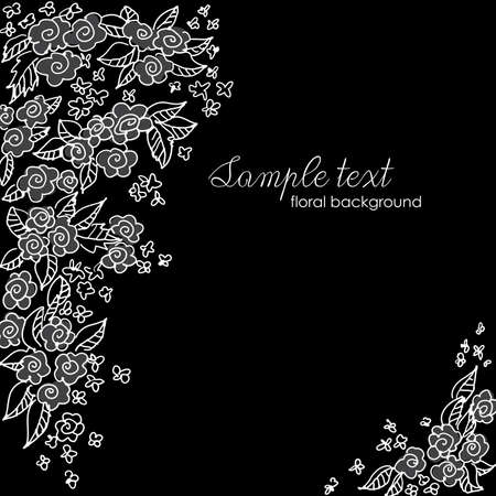 lace pattern: Beautiful floral background  Illustration