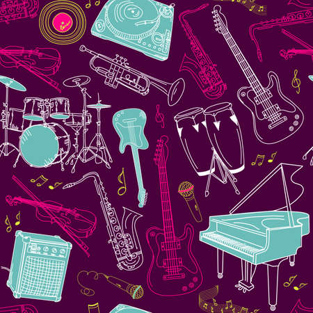 music seamless pattern Stock Vector - 15158842
