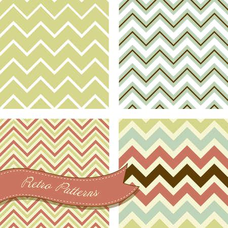 zag: A set of seamless retro zig zag patterns