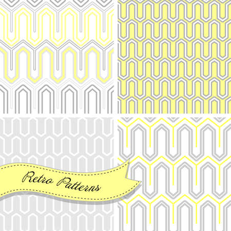 A set of seamless retro patterns. This stylish Mosaic can be used for wallpapers, pattern fills, web page background and surface textures Vector
