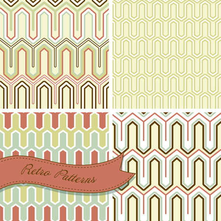 mosaic: A set of seamless retro patterns. This stylish Mosaic can be used for wallpapers, pattern fills, web page background and surface textures