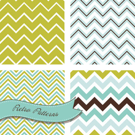 congratulation: A set of seamless retro Zig zag patterns