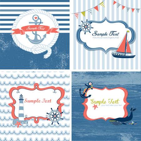 Set de 4 cartes nautiques
