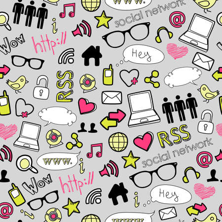 doodles: IT seamless background