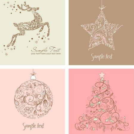renos navide�os: Navidad Set
