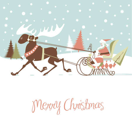 Retro Christmas Card  Stock Vector - 16680944