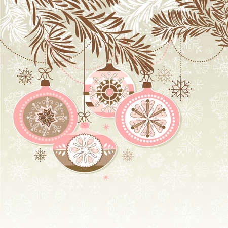 christmas baubles of modern design: Retro Christmas Ornaments