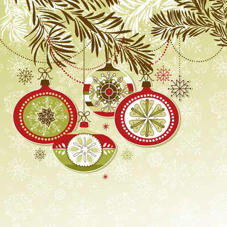 christmas ball: Retro Christmas Ornaments
