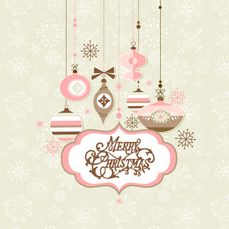 Retro Christmas background Stock Vector - 16681242