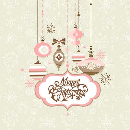 Retro Christmas background Stock Illustratie