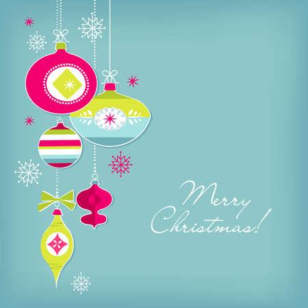 Rétro ornements de Noël Banque d'images - 16680981