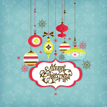 Retro Christmas background  Stock Vector - 16681256