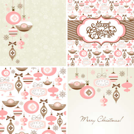 Set of Christmas Retro backgrounds  Stock Vector - 16681271