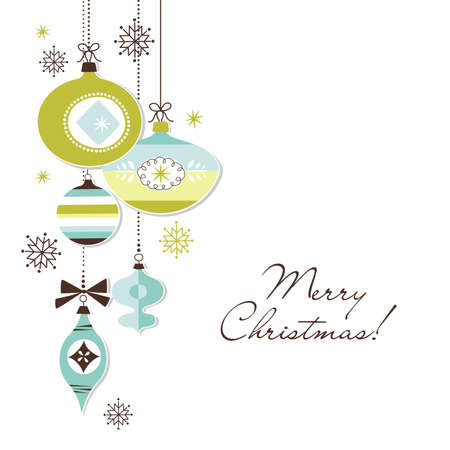 navidad elegante: Retro Adornos de Navidad