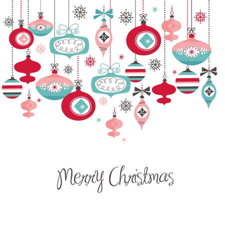 Retro Christmas Balls Illustration