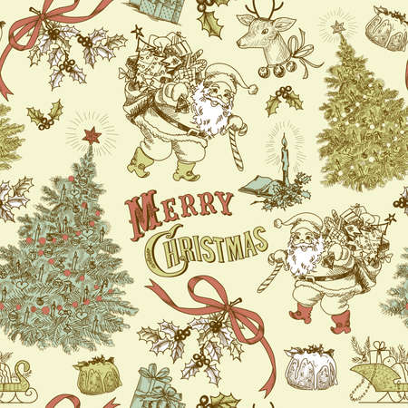 Vintage Christmas seamless pattern Stock Vector - 16681287