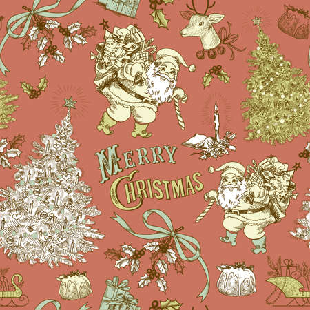 Vintage Christmas seamless pattern  Stock Vector - 16681286