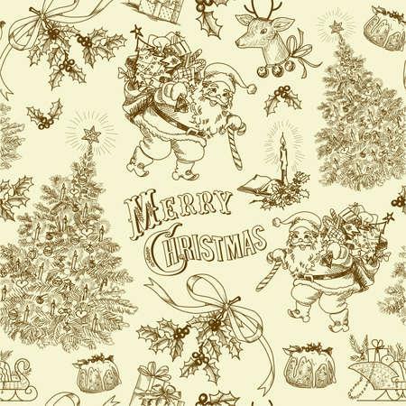 Vintage Christmas pattern  Stock Vector - 16681291