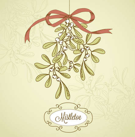 with mistletoe: Vintage Christmas Mistletoe