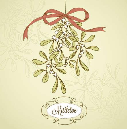 Vintage Christmas Mistletoe Zdjęcie Seryjne - 16681068