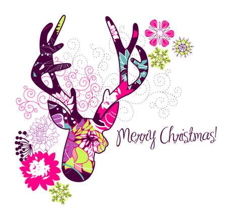 alce: Natale cervo Vettoriali