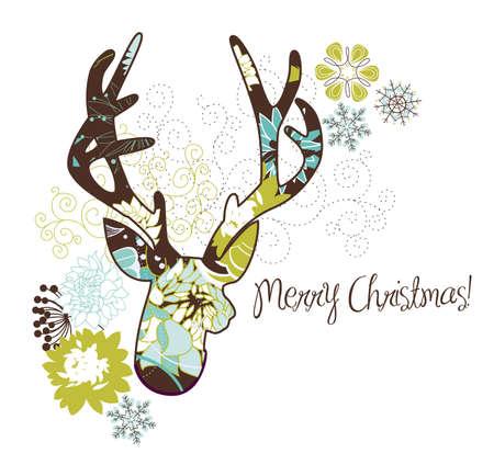 Natale cervo Archivio Fotografico - 16681086