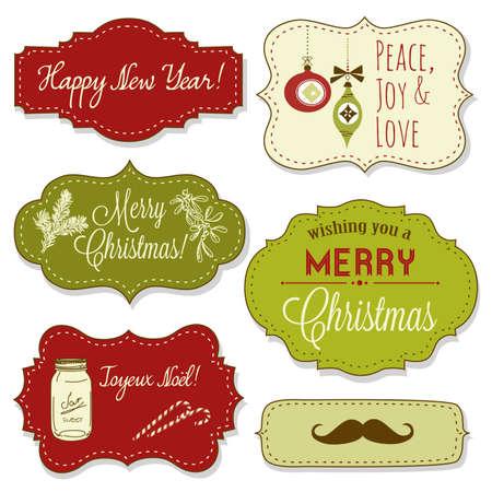 christmas ribbon: Vintage Christmas Frames