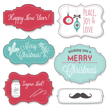 Vintage Christmas Frames Stock Vector - 16681007