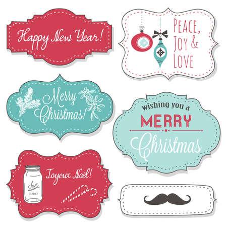 Vintage Christmas Frames Zdjęcie Seryjne - 16681007