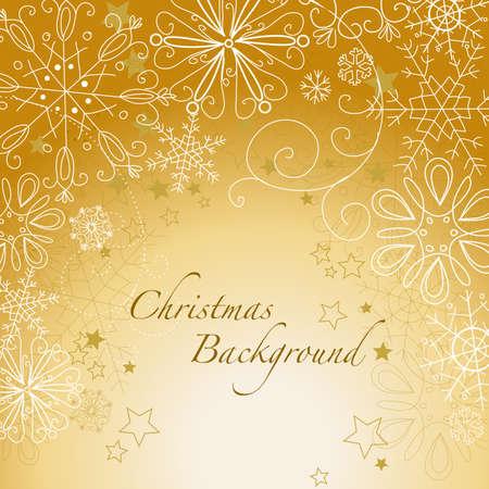 Golden christmas background Stock Vector - 16681185