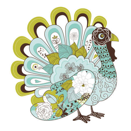 Happy Thanksgiving beautiful turkey card Stock Vector - 16681207