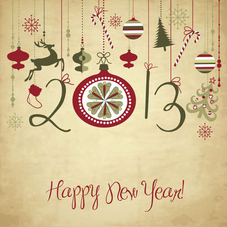 new year card: 2013 Happy New Year background.  Illustration