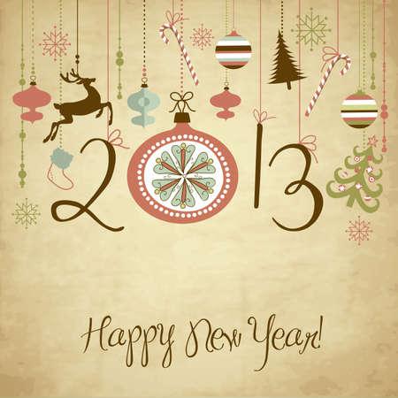 2013 Happy New Year background.  Ilustração