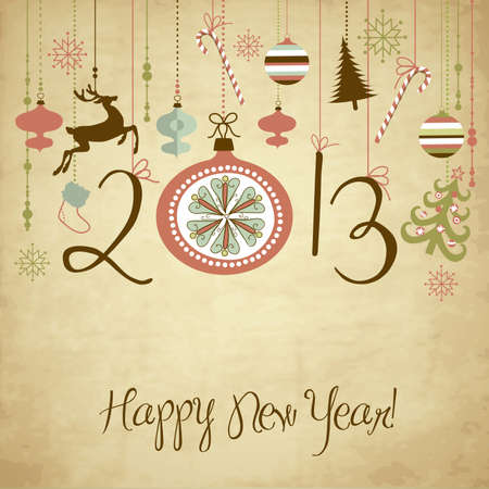 2013 Happy New Year background.  Illustration