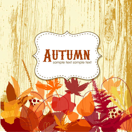 Autumn leaves background Stock Vector - 16681273