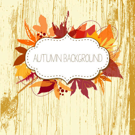 Autumn leaves background Stock Vector - 16681266