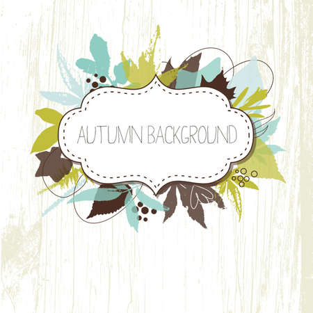 Autumn leaves background  Stock Vector - 16681265