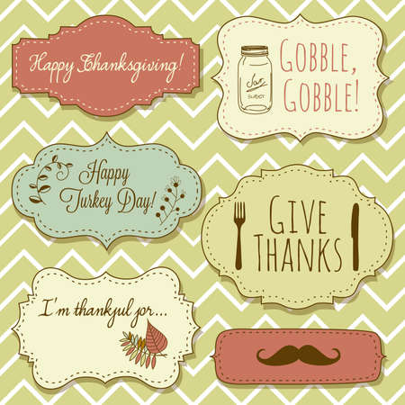 Happy Thanksgiving frames Stock Vector - 16680994