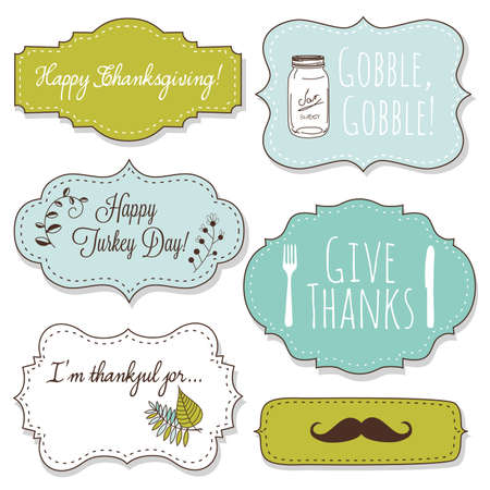 Happy Thanksgiving frames  Stock Vector - 16681001