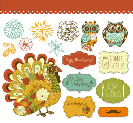 thanksgiving turkey: Happy Thanksgiving beautiful clip art