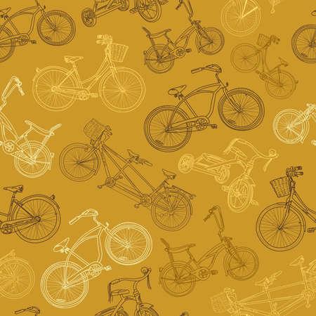 cruiser bike: eamless bicycle background  Illustration