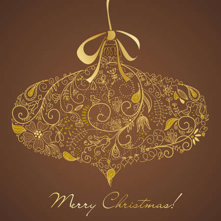 festive: Christmas ornament in retro style illustration Illustration