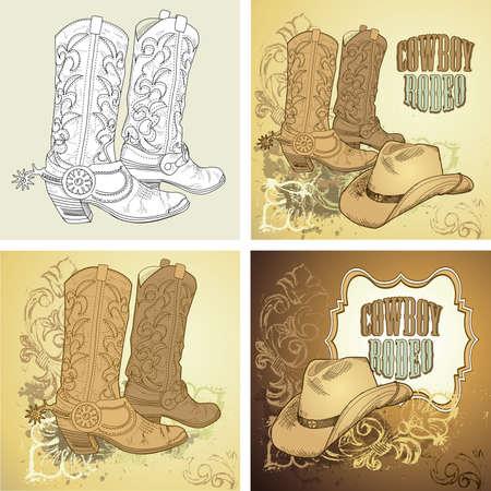 Fond de Cowboy Banque d'images - 20468467